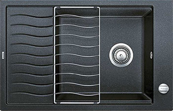 Кухонная мойка BLANCO ELON XL 6 S-F антрацит  с клапаном-автоматом мойка кухонная blanco elon xl 6 s шампань с клапаном автоматом 518741
