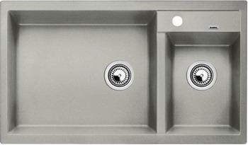 Кухонная мойка BLANCO METRA 9 SILGRANIT (чаша слева) жемчужный 114 0175 358 мойка кухонная rog 610 41 сахара ronda franke