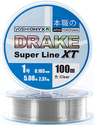 Леска Yoshi Onyx DRAKE SUPERLINE XT 100 M 0.203 mm Clear