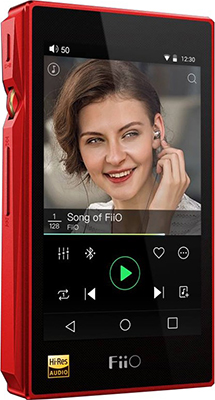 MP3 плеер FiiO Hi-Fi X5 III красный original onn x5 hifi audio player mp3 dac player with 2 screen 8gb lettore with fm support ape flac alac wav wma ogg mp3
