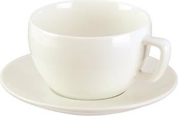 Чашка для завтрака Tescoma CREMA с блюдцем 387128 чашка для эспрессо tescoma crema с блюдцем