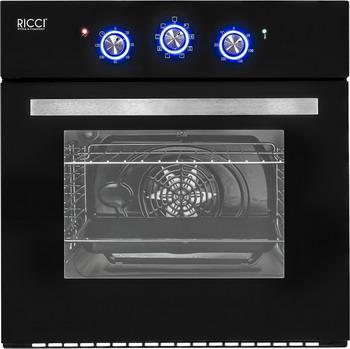 Встраиваемый электрический духовой шкаф Ricci REO 602 B встраиваемый электрический духовой шкаф smeg sf 4120 mcn