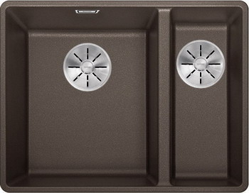 Кухонная мойка BLANCO SUBLINE 340/160-F кофе с отв.арм. InFino 523573 мойка subline 400 f jasmine 519800 blanco