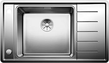 Кухонная мойка BLANCO ANDANO XL 6S-IF Compact нерж.сталь с зеркальной полировкой чаша слева с кл. автоматом 523002 мойка кухонна blanco andano 400 if сталь с клапаном автоматом 518312