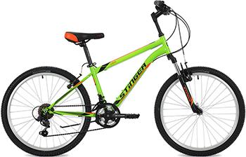 Велосипед Stinger 24'' Caiman 14'' зеленый 24 SHV.CAIMAN.14 GN8 stinger stinger велосипед 24 caiman 14 зеленый
