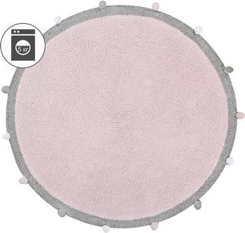 Ковер Lorena Canals с помпонами розовый 120 D C-BUBBLY-PK babyhit babyhit ходунки first step зеленые