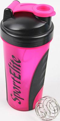 Шейкер спортивный SPORT ELIT SH-120 600 мл розовый/черный цена