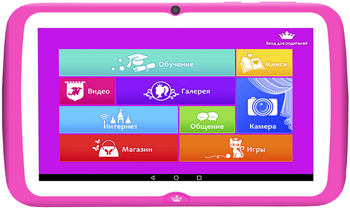 Планшетный компьютер Turbo ''TurboKids Princess'' РТ00020508 a 7inch zhc q8 057a rk3028 android a9 x2 turbokids star s2 tablet touch screen digitizer glass replacement for mid