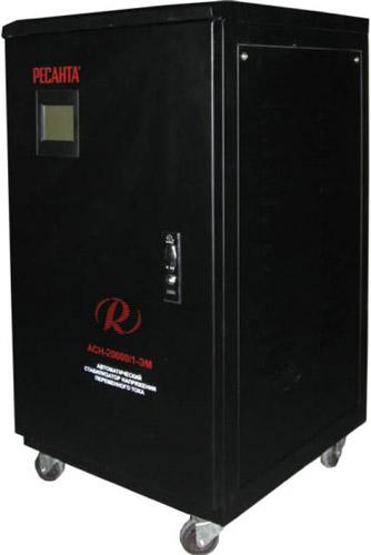 Стабилизатор напряжения Ресанта АСН - 20 000/1 - ЭМ стабилизатор напряжения энергия voltron 20 000