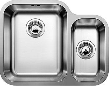 Кухонная мойка BLANCO YPSILON 550-U нерж.сталь полированная с клапаном-автоматом чаша слева мойка кухонная franke kubus kbg 110 34 шоколад с клапаном автоматом 125 0176 647 125 0198 412
