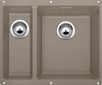 Кухонная мойка BLANCO SUBLINE 340/160-U SILGRANIT серый беж (чаша справа)  цены
