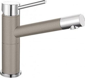 Кухонный смеситель BLANCO ALTA Compact хром/серый беж смеситель alta stainless steel 512321 blanco
