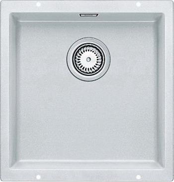 Кухонная мойка BLANCO SUBLINE 400-U SILGRANIT белый  мойка subline 400 f jasmine 519800 blanco