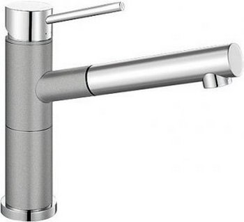 Кухонный смеситель BLANCO ALTA-S Compact хром/алюметаллик blanco alta s compact двухцветный шампань