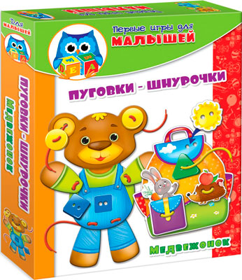 Настольная игра Vladi Toys Пуговки-шнурочки Медвежонок набор для творчества тм vladi toys пуговки ленты нюша