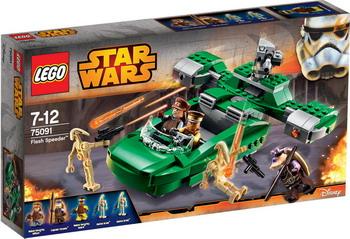 Конструктор Lego Star Wars Флэш Спидер 75091 lego игрушка звездные войны флэш спидер