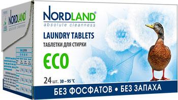 Таблетки для стирки NORDLAND ECO 24шт таблетки д стирки nordland eco 24х33 75г