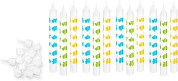 Свечи для торта с подставками Tescoma DELICIA KIDS 8 см 12 шт. одноцветные синий 630980.30 кисть кулинарная tescoma delicia 2 шт