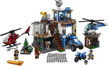 Конструктор Lego City Police: Полицейский участок в горах 60174 building blocks city police station coastal guard swat truck motorcycle learning