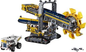 Конструктор Lego Technic: Роторный экскаватор 42055 красота розы корона повязка на голову свадебные двухрядные цветочные гирлянды hairband ll9