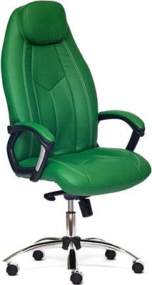 Кресло Tatchair BOSS (хром) (кож/зам зеленый/зеленый перфорированный 36-001/36-001/06) trust trust repression