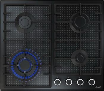 Встраиваемая газовая варочная панель FORNELLI PGT 60 ARDORE BL варочная панель fornelli pgt 45 adamello iv