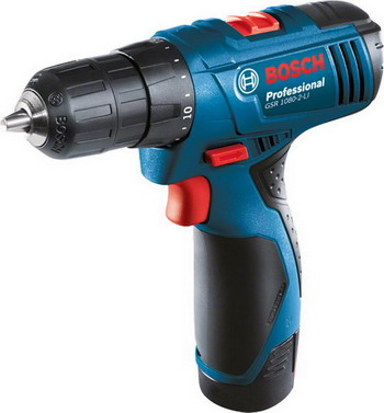 Дрель-шуруповерт Bosch GSR 1080-2-LI Professional (06019 E 2020) шлифовальная машина bosch gss 230 ave professional