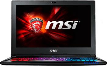 Ноутбук MSI GS 60 6QE-232 RU (9S7-16 H 712-232) ноутбук msi gs72 6qe 426xru stealth pro 2600 мгц 8 гб 1000 гб
