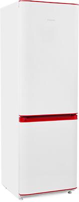 Двухкамерный холодильник Позис RK FNF-170 белый с рубиновыми накладками холодильник pozis rk 139 w