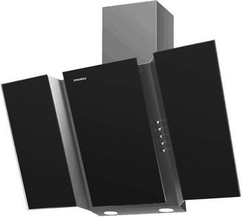 Вытяжка со стеклом MAUNFELD TRENT GLASS 90 серый/чёрное стекло