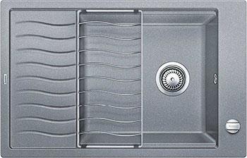 Кухонная мойка BLANCO ELON XL 6 S-F алюметаллик  с клапаном-автоматом мойка кухонная blanco elon xl 6 s шампань с клапаном автоматом 518741