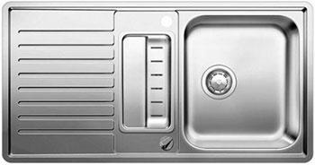 Кухонная мойка BLANCO CLASSIC PRO 5 S-IF нерж.сталь зеркальная полировка с клапаном-автоматом кий пирамида 2 pc rus pro 2008 rp8 5 черный cuetec 26 109 62 5