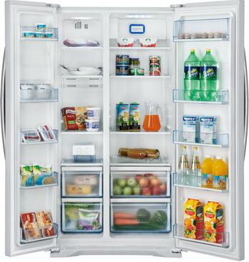 Холодильник Side by Side Shivaki SBS-615 DNFW встраиваемый холодильник side by side liebherr sbs 70 i4 22