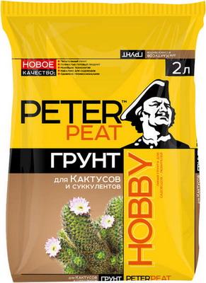 Грунт PETER PEAT HOBBY Для кактусов и суккулентов 2л для кактусов и суккулентов