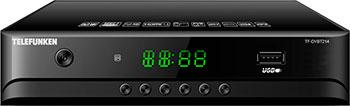 Цифровой телевизионный ресивер Telefunken TF-DVBT 214 чёрный тв приставка telefunken tf dvbt 201