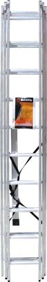 Лестница алюминиевая трёхсекционная Вихрь ЛА 3х10 73/5/1/17 степлер мебельный вихрь 73 9 3 1