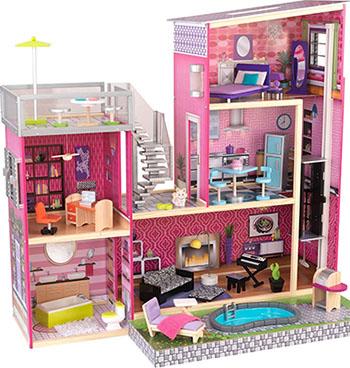Кукольный дом мечты Барби KidKraft Глянец 65833_KE кукольный домик kidkraft кукольный домик для барби амелия с мебелью