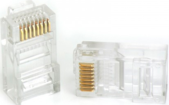 Коннектор Vention RJ 45 (8p8c) cat. 5 под витую пару (10 шт.) цена