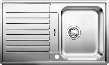 Кухонная мойка BLANCO 523661 CLASSIC PRO 45 S-IF нерж.сталь зерк.полировка с клапаном-автоматом InFino мойка classic pro 45 s if 516842 blanco