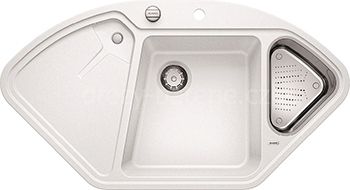 Кухонная мойка BLANCO 523660 DELTA II SILGRANIT белый с кл.-авт. InFino кухонная мойка blanco 523662 delta ii silgranit жасмин с кл авт infino