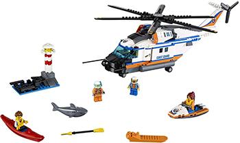 Конструктор Lego CITY Сверхмощный спасательный вертолёт 60166-L конструктор lele city сверхмощный спасательный 448 дет 02068
