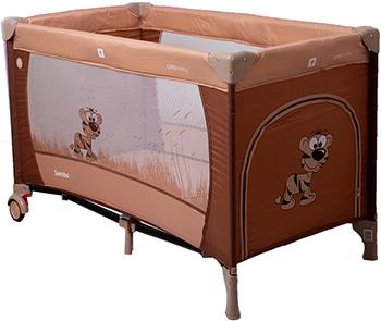 Туристическая кроватка - манеж CotoBaby САМБА ПРОСТЕ Коричневый YASH 66660