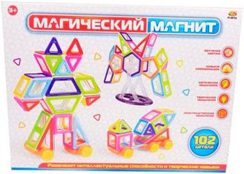 Конструктор Abtoys ''Магический магнит'' 102 предмета PT-00750 abtoys abtoys конструктор kidblock со щетинками 150 деталей
