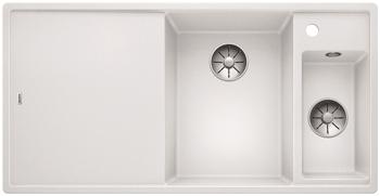 Кухонная мойка BLANCO AXIA III 6 S-F InFino Silgranit белый правая ( доска стекло) 523492 мойка axia ii 6 s f rock grey 518834 blanco