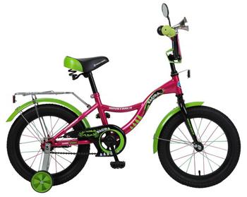Велосипед Novatrack 167 BAGIRA.PN6 16'' Багира  розовый novatrack
