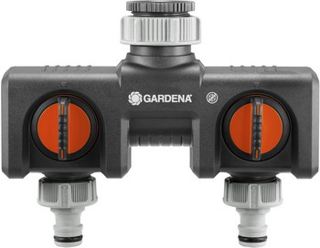 Распределитель Gardena 2-х канальный 08193-20 распределитель gardena 2 х канальный 3 4 00938 20 000 00
