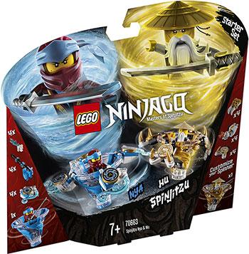 Конструктор Lego Ния и Ву: мастера Кружитцу 70663 Ninjago Masters of Spinjitzu конструктор lepin ninjag летающий корабль мастера ву 2455 дет 06057
