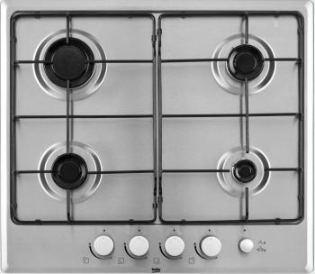 Встраиваемая газовая варочная панель Beko HIMG 64233 SX холодильник beko rcnk365e20zx двухкамерный нержавеющая сталь
