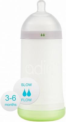 Набор для кормления детей Adiri NxGen Slow Flow White 3-6 мес. 281 мл adiri бутылочка для кормления nxgen nurser от 6 до 9 месяцев 281 мл