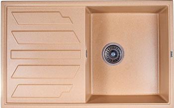 Кухонная мойка Weissgauff QUADRO 800 Eco Granit бежевый  weissgauff quadro 775k eco granit белый